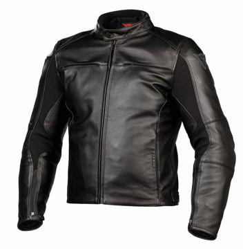 Resim Dainese G. Razon Pelle Motosiklet Ceketi Siyah Deri