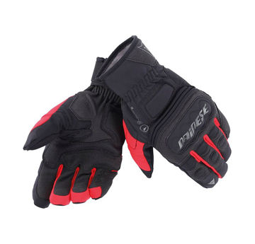 Resim Dainese Guanto Clutch Evo D-Dry Motosiklet Eldiveni Siyah Kırmızı
