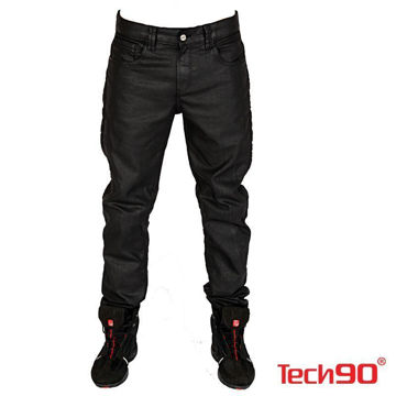 Resim Tech90 New Pirate Kevlar Kot Motosiklet Pantolonu Siyah