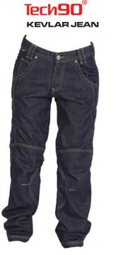 Resim Tech90 Torque Kevlar Kot Açık Mavi Motosiklet Pantolonu