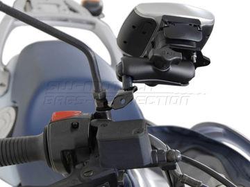 Resim Sw Motech Gps ve Telefon Tutucu Ayna Bağlantı Aparatı Siyah