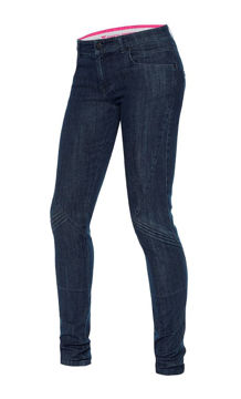 Resim Dainese Jessville Skinny Kadın Motosiklet Pantolonu Mavi