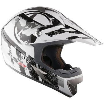Resim Ls2 Mx433 Stripe Siyah Motosiklet Kaskı