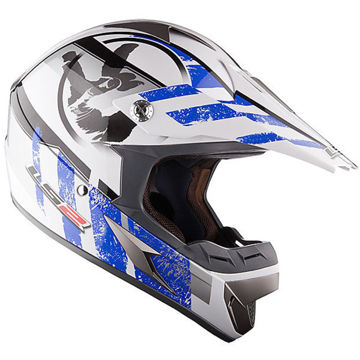 Resim Ls2 Mx433 Stripe Mavi Motosiklet Kaskı