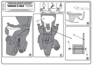 Resim Kappa Ktb55 Yamaha X-max 125-250 (10-13) Motosiklet Sıssybar