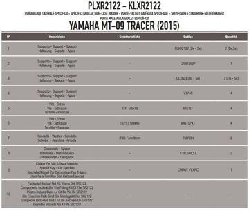 Resim Kappa Klxr2122 Yamaha Mt-09 Tracer(15) Motosiklet Yan Çanta Taşıyıcı
