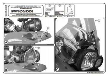 Resim Kappa D333kıt Bmw F650gs - F800gs (08-15) Rüzgar Sıperlık Baglantısı
