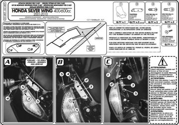 Resim Kappa D214kıt Honda Sılverwıng 400-600 (01-09) Rüzgar Sıperlık Baglantısı