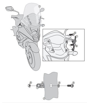 Resim Kappa D1104kıt Honda Crossrunner 800 (11-14) Rüzgar Sıperlık Baglantısı