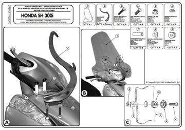 Resim Kappa A307a Honda Sh 300ı (07-10) Rüzgar Sıperlık Baglantısı
