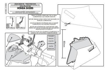 Resim Kappa A1100a Honda Sh 300ı (11-14) Rüzgar Sıperlık Baglantısı