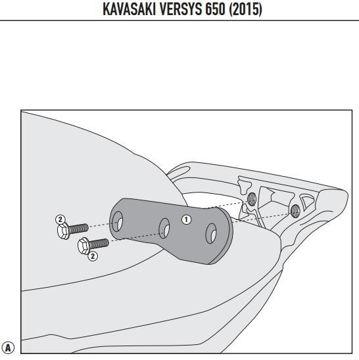 Resim Kappa 4114kıt Kawasakı Versys 650 (15) Yan Çanta Tasıyıcı Baglantı Kıtı