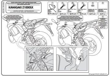 Resim Givi Te4100 Kawasakı Z 1000 Sx (11-15) Motosiklet Yan Kumaş Çanta Taşıyıcı