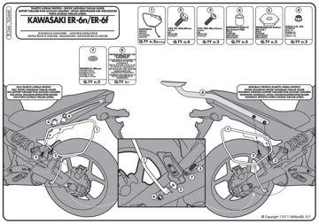 Resim Givi Te266 Kawasakı Er-6n - Er-6f (09-11) Motosiklet Yan Kumaş Çanta Taşıyıcı