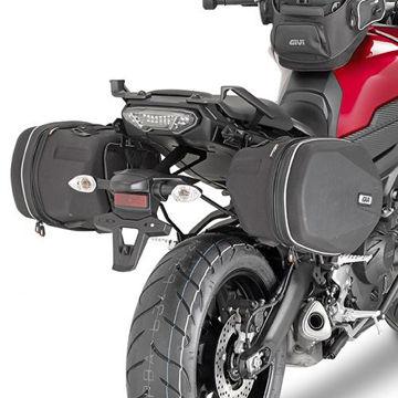 Resim Givi Te2122 Yamaha Mt-09 Tracer (15) Motosiklet Yan Kumas Çanta Taşıyıcı