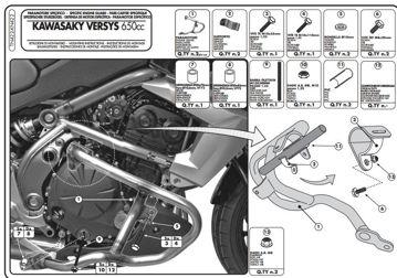 Resim Givi Tn422 Kawasakı Versys 650 (10-14) Motosiklet Koruma Demiri