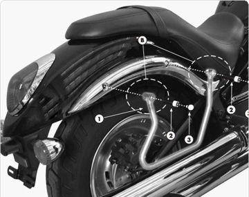 Resim Givi T264 Kawasakı Vn 900 Custom - Classıc (06-14) Motosiklet Yan Kumaş Çanta Taşıyıcı