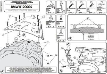 Resim Givi Sra692 Bmw R 1200gs (07-12) Motosiklet Arka Çanta Taşıyıcı