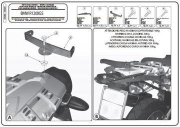 Resim Givi Sr689 Bmw R 1200 gs (04-12) Motosiklet Arka Çanta Taşıyıcı