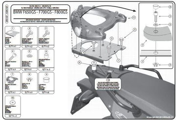 Resim Givi Sr5107 Bmw F 650-700-800 Gs - Adventure (08-15) Motosiklet Arka Çanta Taşıyıcı