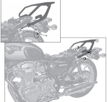 Resim Givi Sr4101 Kawasaki W 800 (11-15) Motosiklet Arka Çanta Taşıyıcı