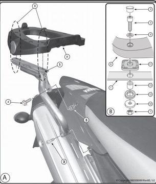 Resim Givi Sr365m Yamaha Xt 660 r - Xt 660 x (07-15) Motosiklet Arka Çanta Taşıyıcı