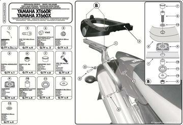 Resim Givi Sr355m Yamaha X-max 125-250 (05-09) Motosiklet Arka Çanta Taşıyıcı