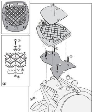 Resim Givi Sr3101m Suzuki Dl 650 V-strom (11-15) Motosiklet Arka Çanta Taşıyıcı