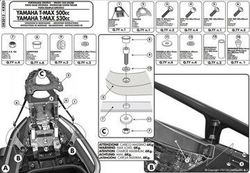 Resim Givi Sr2013 Yamaha T-max 500 (08-11) - T-max 530 (12-15) Motosiklet Arka Çanta Taşıyıcı