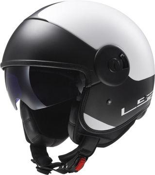 Resim LS2 OF597 Cabrıo Mat Beyaz Motosiklet Kaskı