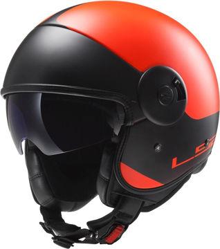 Resim LS2 OF597 Cabrıo Mat Turuncu Motosiklet Kaskı