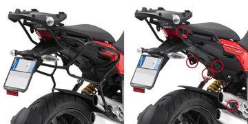 Resim Givi Plxr312 Ducati Multistrada 1200 (10-14) Motosiklet Yan Çanta Taşıyıcı