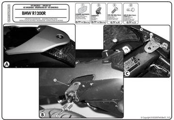 Resim Givi Plx688kıt Bmw R 1200 R (06-10) Motosiklet Yan Çanta Taşıyıcı Bağlantı Kiti