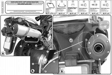 Resim Givi Plx528 Suzuki Dl 1000 V-strom (02-11) Kawasaki Klv 1000 (04-10) Motosiklet Yan Çanta Taşıyıcı