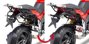 Resim Givi Plr7401 Ducati Multistrada 1200 (10-14) Motosiklet Yan Çanta Taşıyıcı