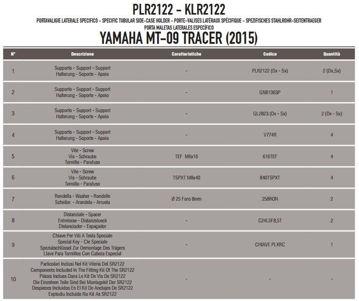 Resim Givi Plr2122 Yamaha Mt-09 Tracer (15) Motosiklet Yan Çanta Taşıyıcı