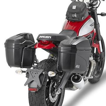 Resim Givi Pl7407 Ducati Scrambler 800 (15) Motosiklet Yan Çanta Taşıyıcı