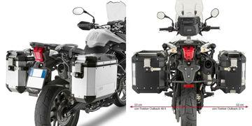 Resim Givi Pl6401CAM Triumph Tiger 800 - 800XC - 800XR (11-15) Motosiklet Yan Çanta Taşıyıcı