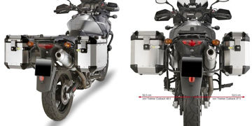 Resim Givi Pl532CAM Suzuki Dl 650 V-Strom (04-11) Motosiklet Yan Çanta Taşıyıcı