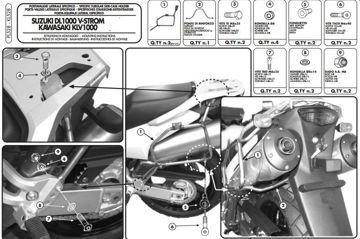 Resim Givi Pl528 Suzuki Dl 1000 V-Strom (02-11) - Kawasaki Klv1000 (04-10) Motosiklet Yan Çanta Taşıyıcı