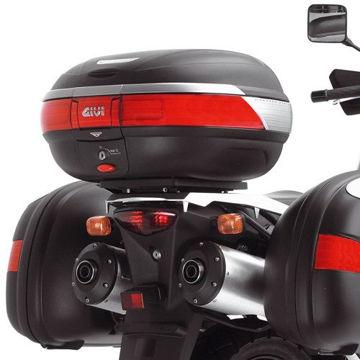 Resim Givi E528 Suzuki DL 650-1000 V-STROM (02-11) - Kawasaki KLV 1000 (04-10) Motosiklet Arka Çanta Taşıyıcı