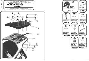 Resim Givi E213 Honda XL 650V Transalp (00-07) - XL 125V Varadero (01-14) Motosiklet Arka Çanta Taşıyıcı