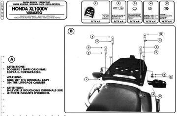 Resim Givi E212 Honda XL 1000V Varadero (99-06) Motosiklet Arka Çanta Taşıyıcı
