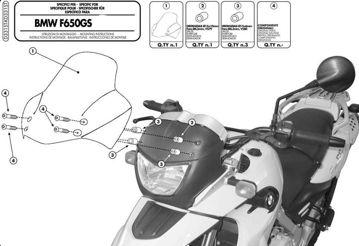 Resim Givi D331ST Bmw F 650 GS (04-07) Motosiklet Rüzgar Siperliği