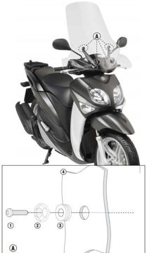 Resim Givi D2102ST Yamaha Xenter 125-150 (12-15) Motosiklet Rüzgar Siperliği