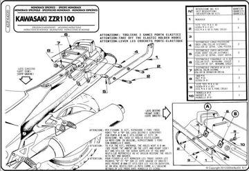 Resim Givi 422F Kawasakı ZZR 1100 (93-01) Motosiklet Arka Çanta Taşıyıcı