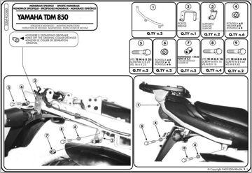 Resim Givi 336F Yamaha TDM 850 (96-01) Motosiklet Arka Çanta Taşıyıcı
