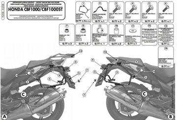 Resim Givi Pl208 Honda CBF 1000 - CBF 1000ST (10-14) Motosiklet Yan Çanta Taşıyıcı