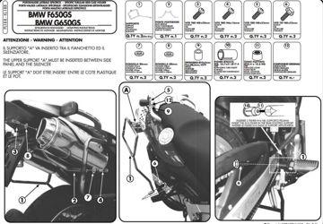 Resim Givi PL188 Bmw F650GS (00-07) - G650GS (11-15) - F650GS Dakar (00-03) Motosiklet Yan Çanta Taşıyıcı