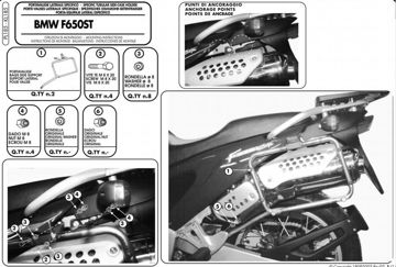 Resim Givi PL185 Bmw F 650ST (97-99) Yan Çanta Taşıyıcı
